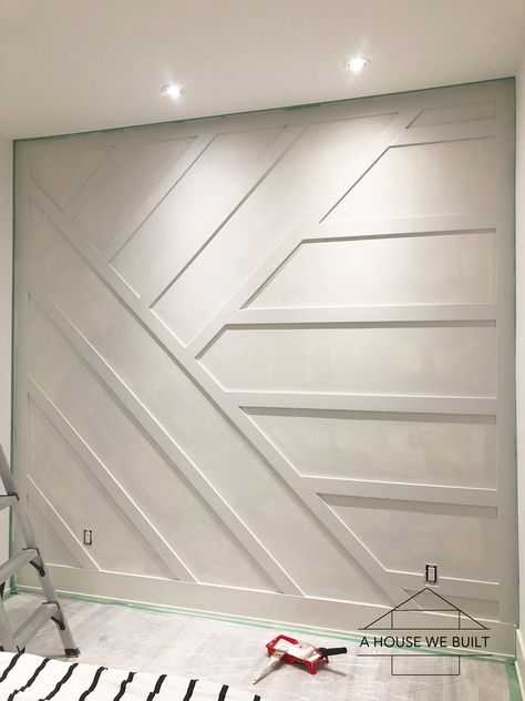 home accents walls How to Build a Paneled Accent Wall Accent Walls In Living Room, Accent Wall Bedroom, Bedroom Decor, Accent Wall Decor, 3d Wall Decor, Master Bedroom, Küchen Design, House Design, Accent Wall Designs