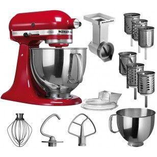 KitchenAid Küchenmaschine ARTISAN -  Vorteils-Set - mit Gemüseschneider und 3 zusätzlichen Trommeln  -  20% PREISVORTEIL
