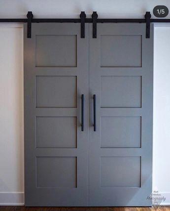 Custom Build Classic 4 Panel Sliding Barn Door Hinge Pocket Door 1000 In 2020 Barn Door Closet Trendy Door Building A Barn Door