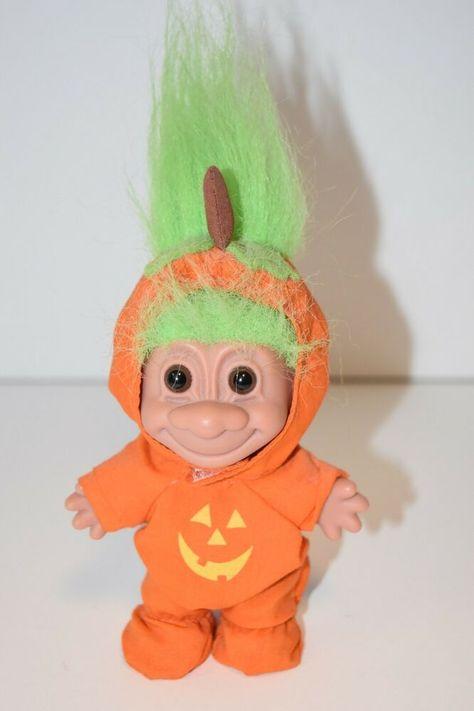 "Rare NEW IN ORIGINAL WRAPPER 3/"" Russ Troll Doll HALLOWEEN SKELETON"