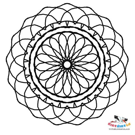 Cicek Mandala Boyama Mandala Cicek Mozaik