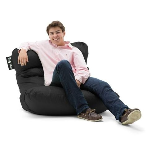 Outstanding Big Joe Roma Bean Bag Chair Smartmax White Black Squirreltailoven Fun Painted Chair Ideas Images Squirreltailovenorg