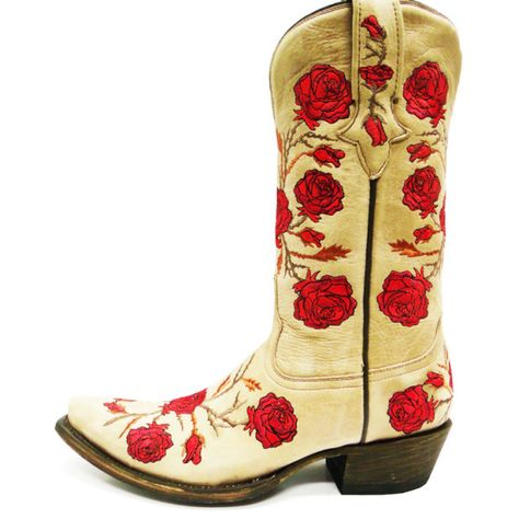 18a39b88711 Ladies Lucchese M5645.S54 Natural Panamera Calfskin with Roses and ...