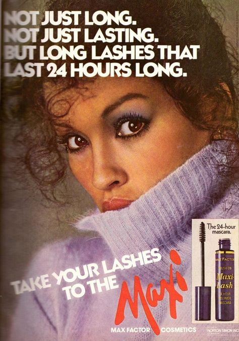 1979 Max Factor Janice Dickinson Maxi Print Advertisment Ad Vintage VTG 70s   eBay