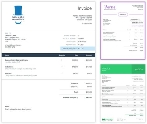 Customizable invoice templates are part of the free software - invoice template software