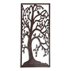 Large Metal Tree Silhouette Wall Art In Rusty Coloured Finish Garden  Ornaments U0026 Accessories #gardening #nature Www.gardens2you.co.uk |  Pinterest | Metal ...