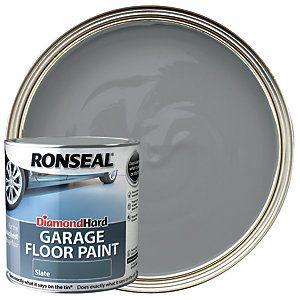 Ronseal Diamond Hard Garage Floor Paint Satin Slate 2 5l