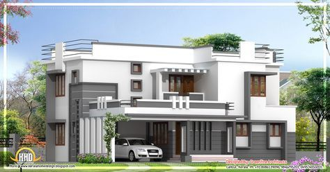 Contemporary 2 Story Kerala Home Design 2400 Sq Ft Indian Kerala House Design Contemporary House Plans Modern House Design