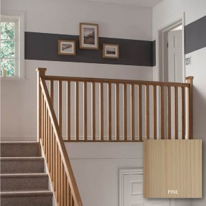 Traditional Pine Square 32mm Landing Project Kit L 2 4m Staircase Spindles Staircase Manufacturers Handrail Design