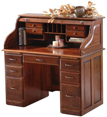 Regency Roll Top Desk Roll Top Desk Desk Cubby Drawer