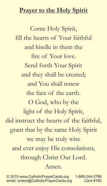 """come holy spirit..   we said this every morning when i was in school...still remember it.. ... but there were 'thees' and """"thous"""" then ,,,,still prefer it that way"""