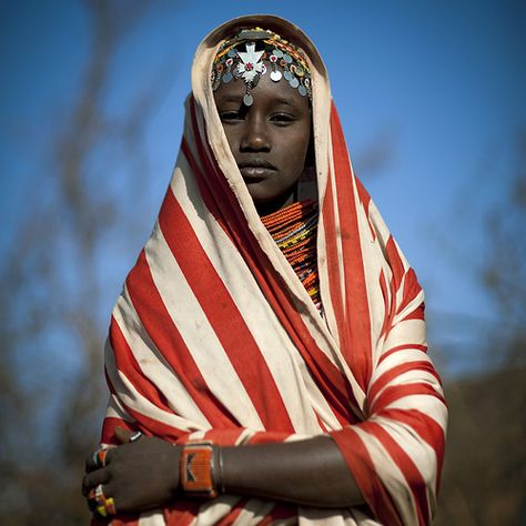 Miss Ana, veiled girl from Rendille tribe - Kenya by Eric Lafforgue, via Flickr