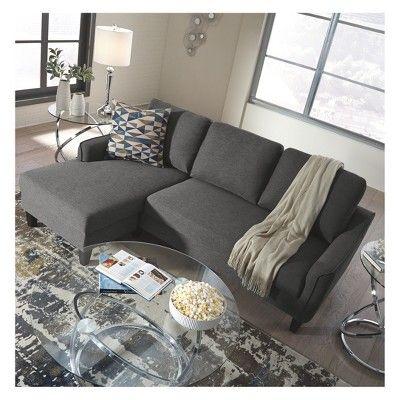 Jarreau Sofa Chaise Sleeper Gray Signature Design By Ashley Chaise Sofa Furniture Blue Living Room Sets