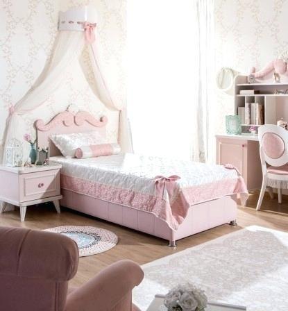 Lit Princesse Fille Lit Fille Rose Avec Moulure En Tete De Lit Lit