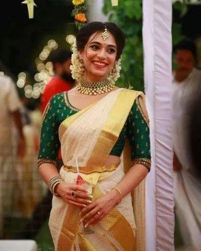 Kerala Saree Hairstyles Kerala Saree Blouse Designs Pattu Saree Blouse Designs Wedding Blouse Designs