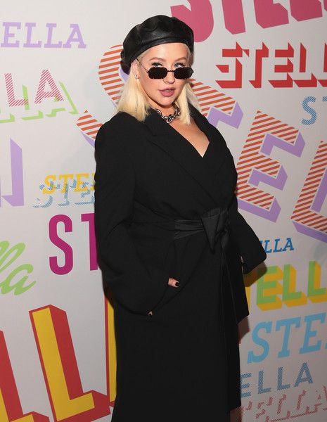 Christina Aguilera attends Stella McCartney's Autumn 2018 Collection Launch.