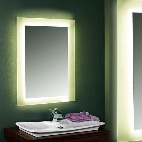 Badezimmerspiegel mit Hinterleuchtung Sanja Wandspiegel Neon   - badezimmerspiegel nach mass