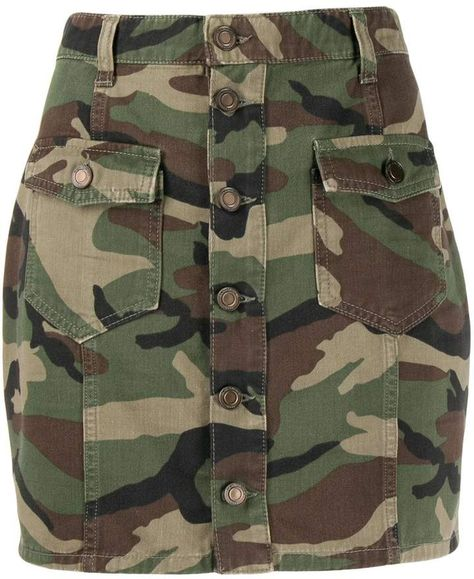 Saint Laurent camouflage print mini skirt
