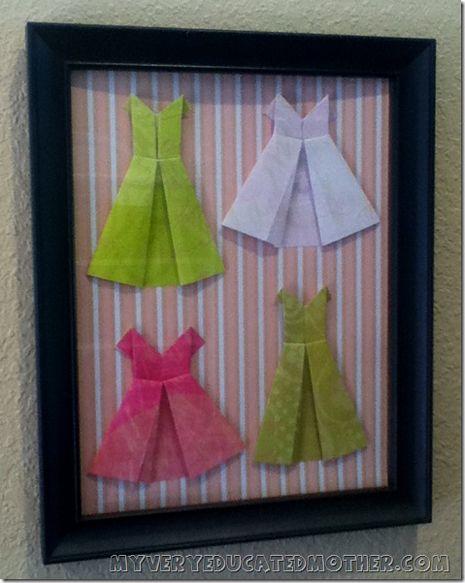Paper Dress Wall Art