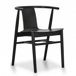 Dean Dining Chair Black Shell Black Seat Dining Chairs