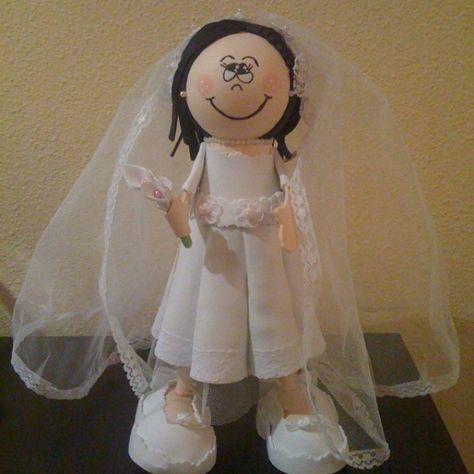 Fofucha novia/Bride fofucha doll