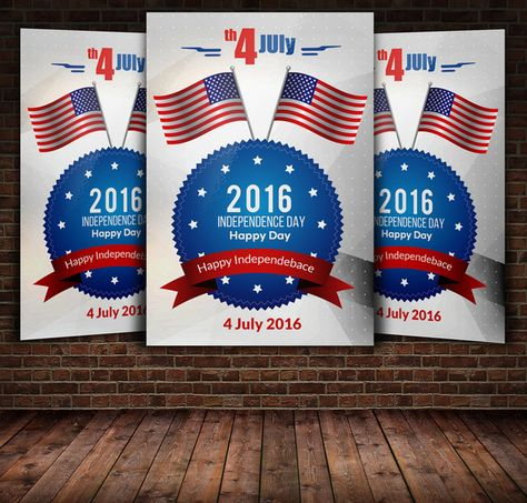 Independence Day seamless pattern by Iryna Danyliuk on - independence day flyer