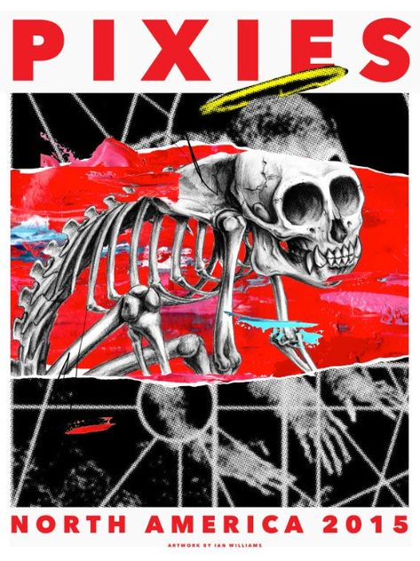 Image of Pixies North American Tour 2015 Poster