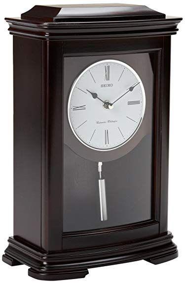 Seiko Mantel Chime With Pendulum Clock Dark Brown Alder Case Review Mantel Clock Wooden Mantel Clock