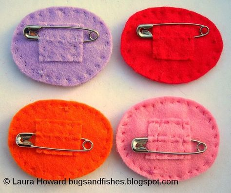 Bugs and Fishes by Lupin: How To: Felt Lucky Pants / Underpants / Knickers Badge - Sewing and Crafts - Fabric Brooch, Felt Brooch, Brooch Pin, Felt Embroidery, Felt Applique, Textile Jewelry, Fabric Jewelry, Jewellery, Felted Jewelry