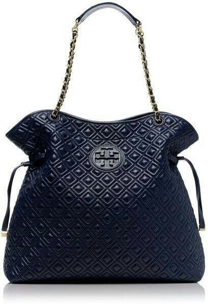 Tory Burch | Blue Marion Quilted Slouchy Tote