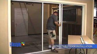 Screenex Retractable Pull Down Garage Door Screen Installation Youtube Garage Screen Door Garage Doors