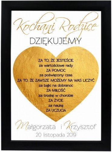 Podziekowanie Prezent Dla Rodzicow Wedding Music Instruments