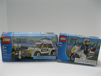 Toy Lego City Police Motorcycle 7235 Complete W Box 7236 Police Cruiser Afflink Contains Affiliate Links When You Click On Links To Lego City Police Lego City Lego