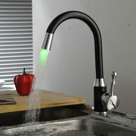 LED Kitchen Sink Faucet Mixer Tap 360