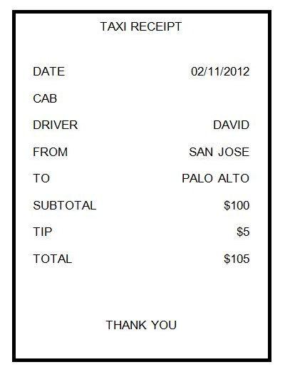 22 Free Taxi Cab Receipt Templates Pdf Word Cab Driver Receipt Template Word Template