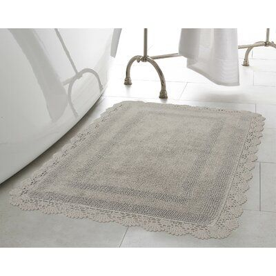 Laura Ashley Crochet 100 Cotton Bath Rug In 2020 Bath Rugs