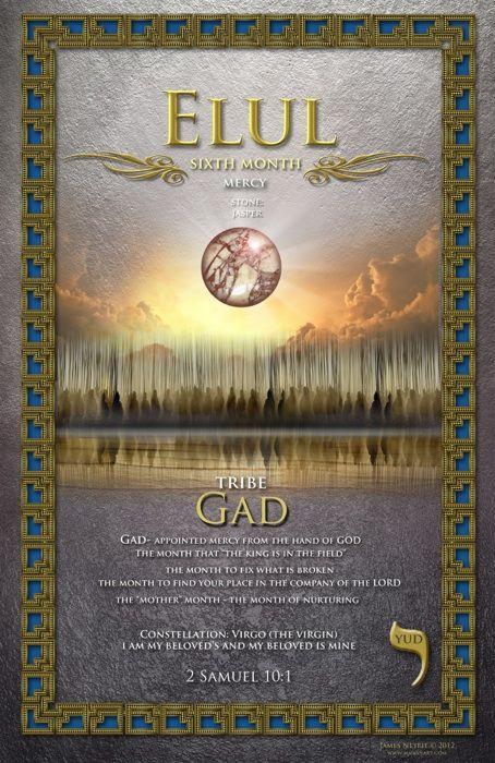 Sixth Biblical Month of Elul, Mercy, The Tribe of Gad, Stone: Jasper