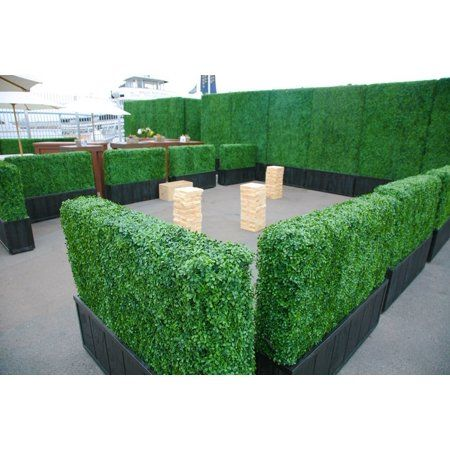 Artificial Boxwood Hedge Privacy Hedge Screen Uv Protected Faux Greenery Mats Boxwood Wall Suitable For Both Outdoor Or Indoor Garden Backyard And Home Dé Artificial Plants Outdoor Artificial Plants Indoor Backyard