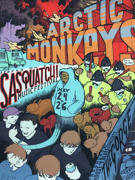 Arctic Monkeys - 2006 Jay Ryan poster George, WA Gorge Amphitheatre