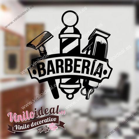 Vinilos decorativos para peluquerías y barberías, decora de forma fácil y rápida tu negocio. Personalizalo con el nombre de tu establecimiento.