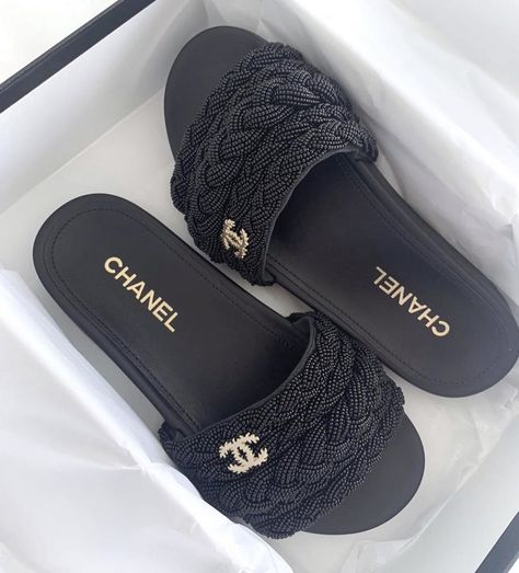 Chanel Mules, Chanel Sandals, Chanel Slippers, Chanel Sneakers, Best Designer Bags, Designer Shoes, Aesthetic Shoes, Aesthetic Light, Dior Handbags