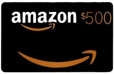 500 Amazon Gift Card Email Delivery Amazon Gift Cards Amazon Gifts Sweepstakes Winner