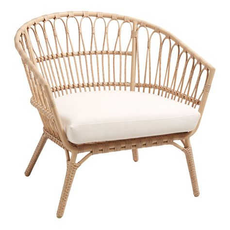 Seating - With an artful open-weave and rattan-inspired all-weather wicker frame, our Lenco outdoor chair has us dreaming of mid-century Hawaii. Boho Home, Outdoor Seating, Outdoor Wicker Chairs, Rattan Outdoor Furniture, World Market Outdoor Furniture, Rattan Outdoor Chairs, Outdoor Spaces, World Market Dining Chairs, Outdoor Patios