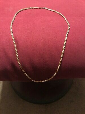 Ad Ebay Link Real 10k Gold 3mm 24 Inch Rope Chain Necklace Chain Necklace Gold Rope Chains Necklace