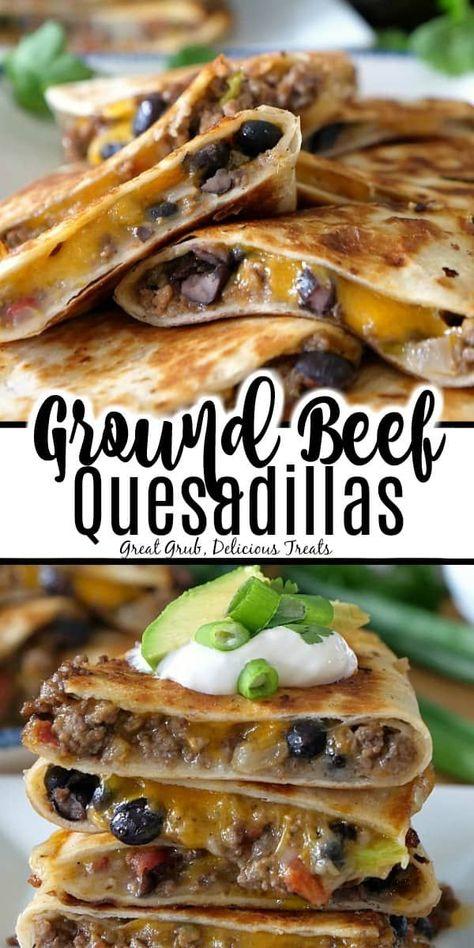 Quesadillas De Boeuf Hache Ground Beef Crockpot Recipes Quesadilla Recipes Easy Ground Beef Recipes