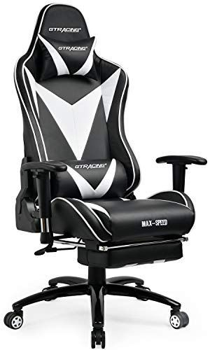 Gtracing Ergonomic Gaming Chair High Back Swivel Computer Office Chair Adjusting Headrest And Lumbar Support Recli Gaming Desk Chair Gaming Desk Lumbar Support