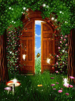 Designbynettis Open Door Open Up Your Door And Let The Beauty In Magic Fantasyart Des Opening Fairy Doors Beautiful Flowers Wallpapers Peacock Wall Art