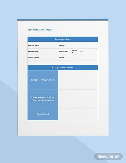 Request For Information Rfi Form Template Word Doc Apple Mac Pages Google Docs Templates Words Word Doc