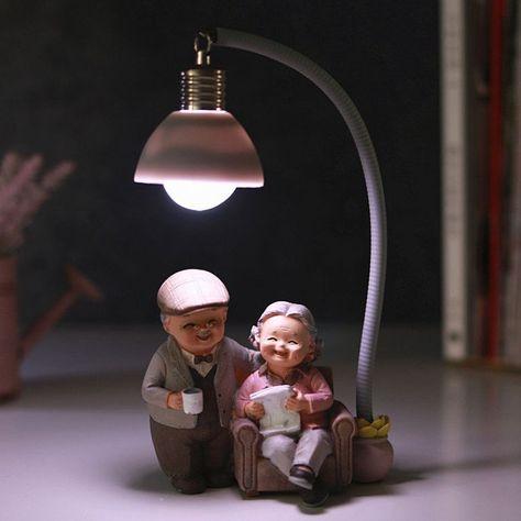 DecBest Kreative Paar Nachtlicht Ornamente Hochzeitstag Geschenk Home Decor Romantische Verzierung - NewChic Mobile