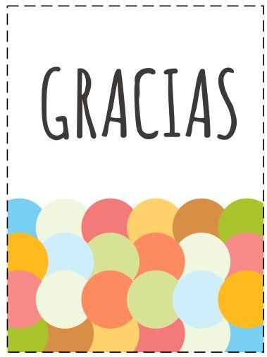 Tarjetas para dar las gracias SPANISH Learning Thanks card